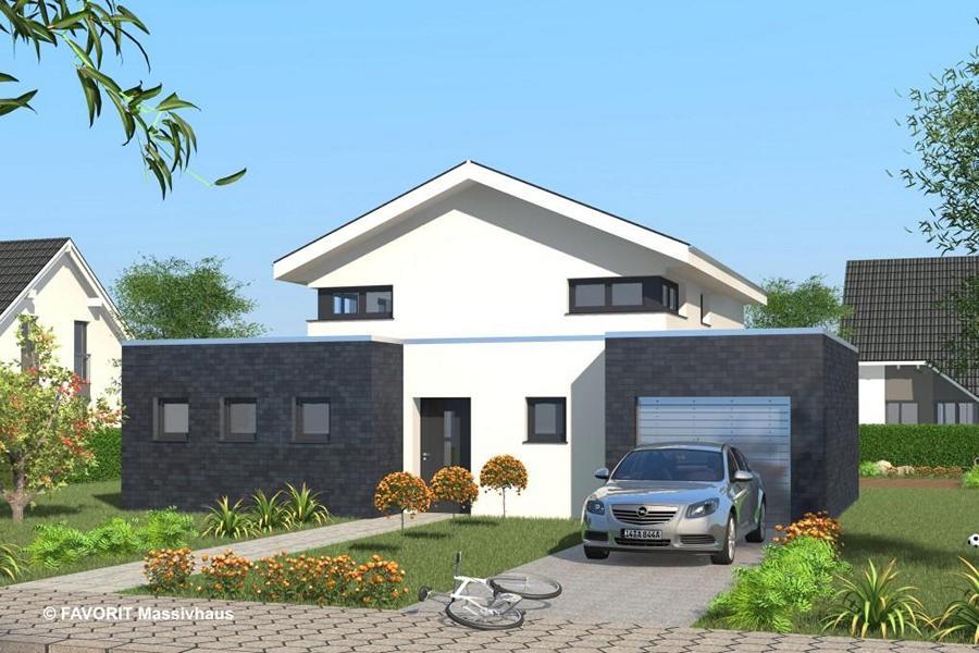Select 147 e3 bau wohnkonzepte gmbhe3 bau for Modernes einfamilienhaus mit garage